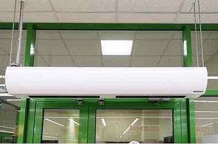 Надежная зашита тепла в помещении с помощью тепловой завесы