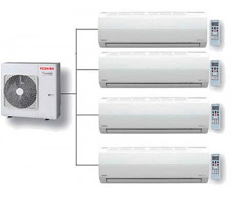 Мульти-системы Toshiba сразу для нескольких комнат